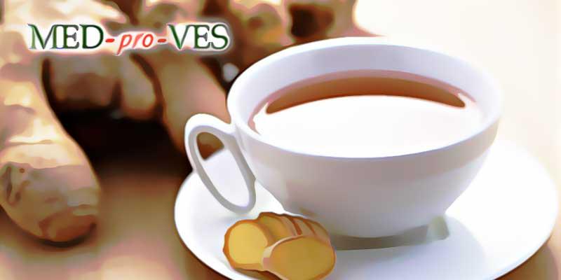 Чашка с напитком с имбирем