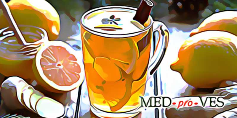 Напиток из имбиря, лимона, корицы