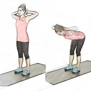 Наклоны стоя для похудения живота