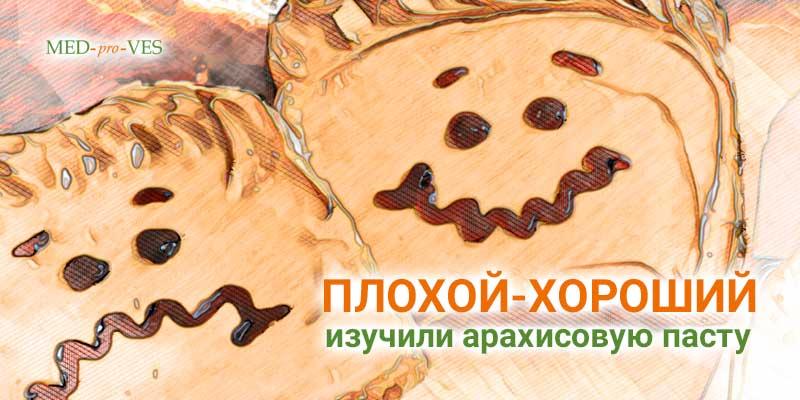 Два бутерброда с арахисовым маслом