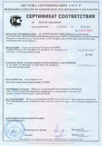Сертификат соответствия на FatPro
